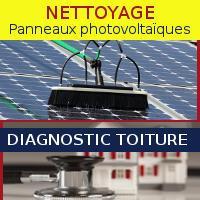 Diagnostic de toiture terrasse, et nettoyage de panneaux solaires photovoltaïques