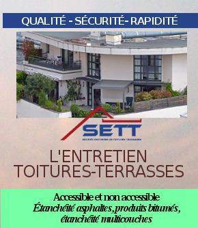 L'entretien de toitures terrasses accessible et non accessible - SETT 44260 MALVILLE